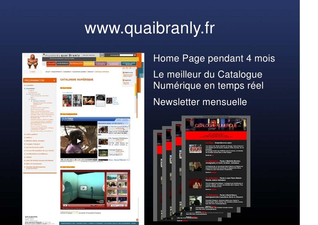 www.quaibranly.fr         Home Page pendant 4 mois         Le meilleur du Catalogue         Numérique en temps réel       ...