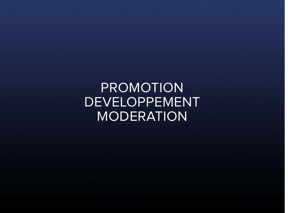 PROMOTION DEVELOPPEMENT  MODERATION