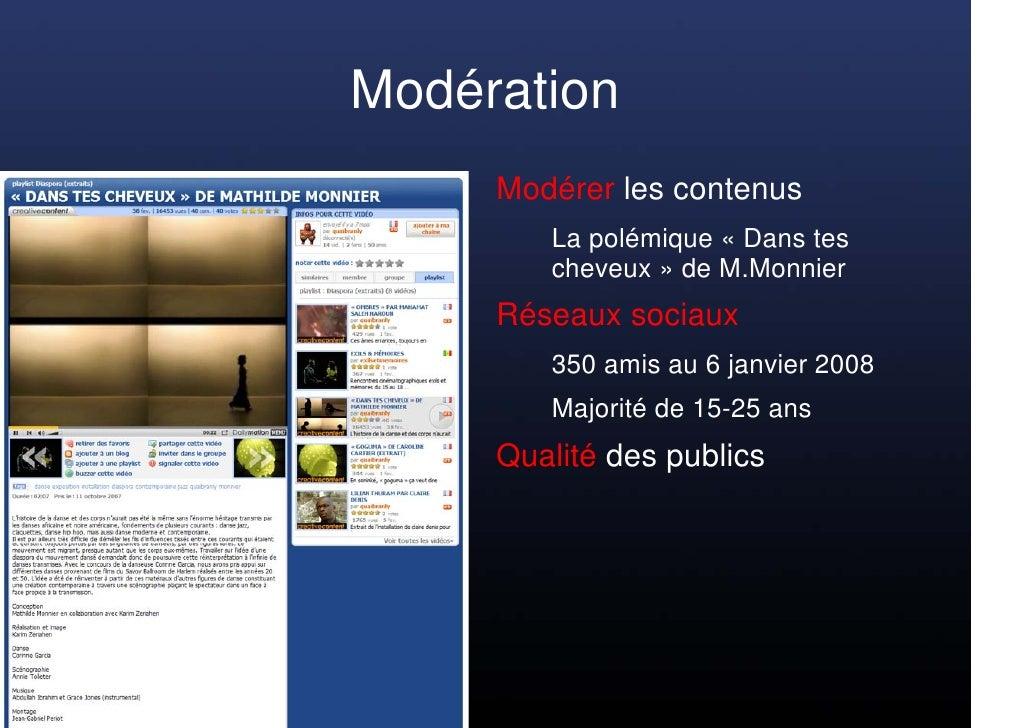 Modération      Modérer les contenus         La polémique « Dans tes         cheveux » de M.Monnier      Réseaux sociaux  ...