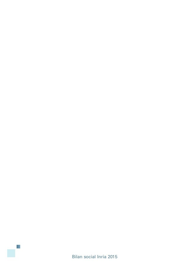 Bilan social Inria 2015