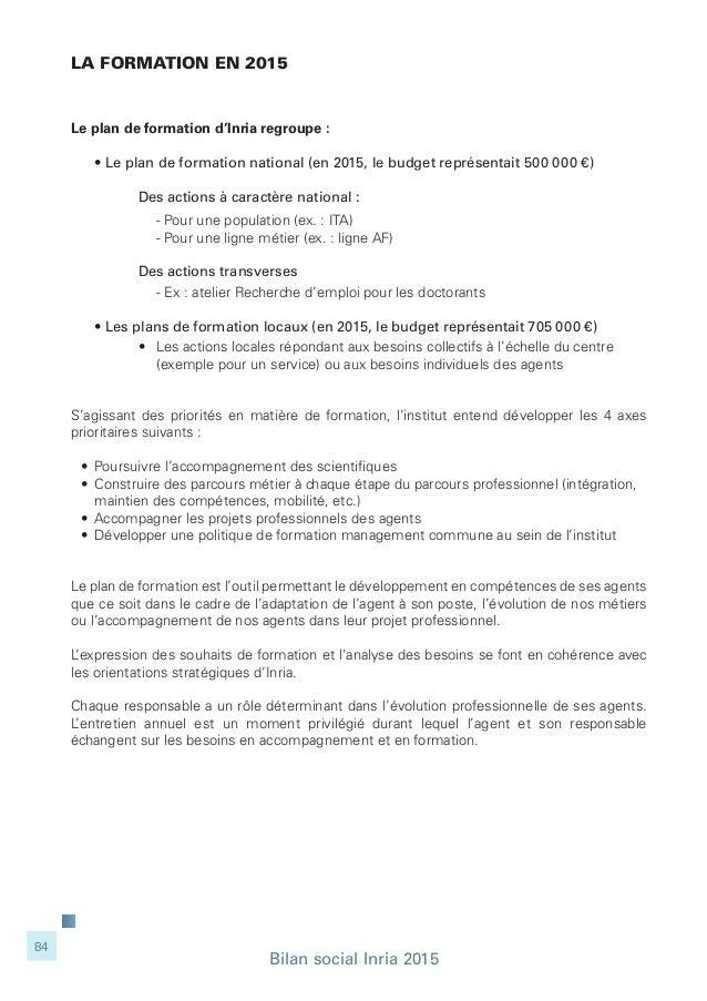 Inria - Bilan social 2015