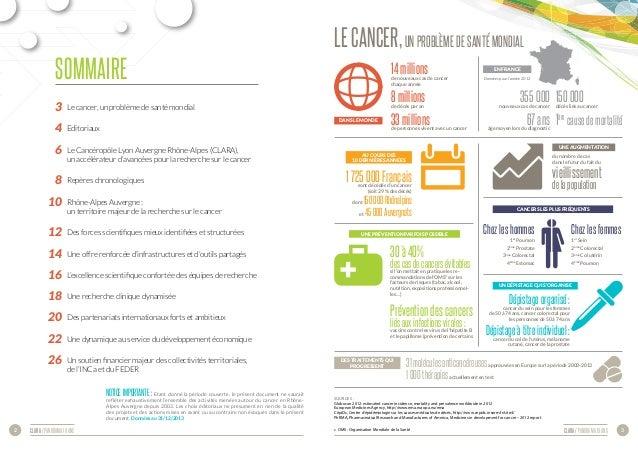 CLARA / panorama 10 ans 3CLARA / panorama 10 ans2  3 Le cancer, un problème de santé mondial  4 Editoriaux  6 Le C...