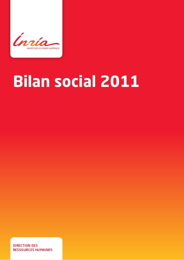 Bilan social 2011direction desressources humaines