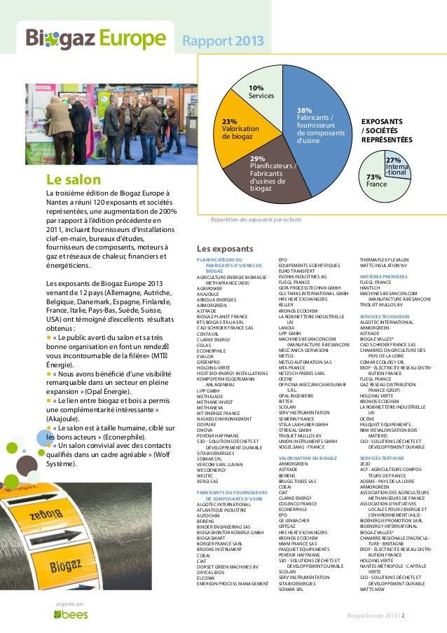 Biogaz Europe 2013 - Rapport Slide 2