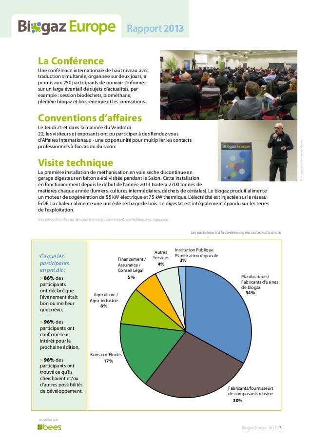 Biogaz Europe 2013 - Rapport Slide 3