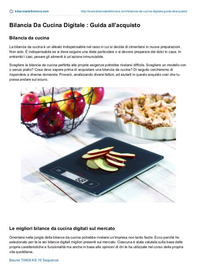Bilancia da cucina digitale guida allacquisto - Bilancia da cucina digitale ...