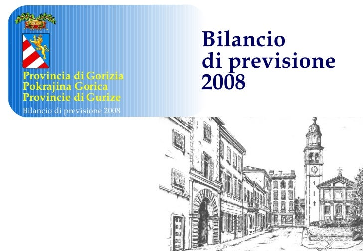 Bilancio  di previsione  2008