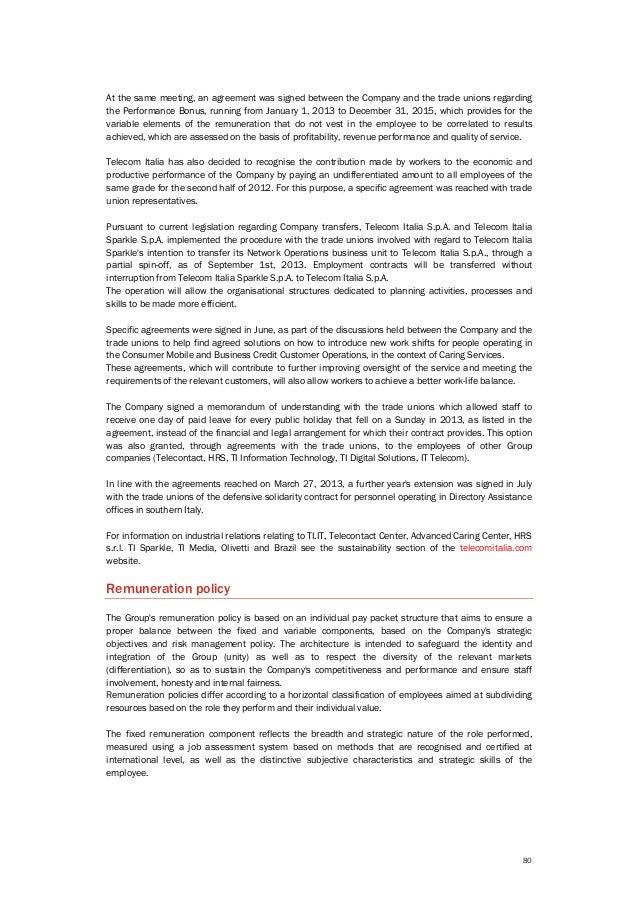 Telecom Italia - Sustainability Report 2013