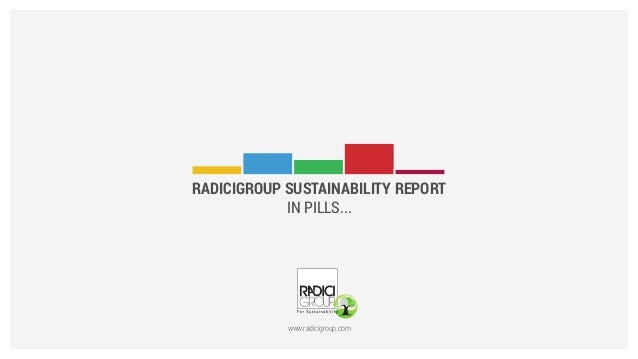 RADICIGROUP SUSTAINABILITY REPORT IN PILLS...  www.radicigroup.com