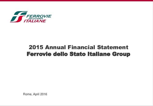 2015 annual financial statement ferrovie dello stato italiane group