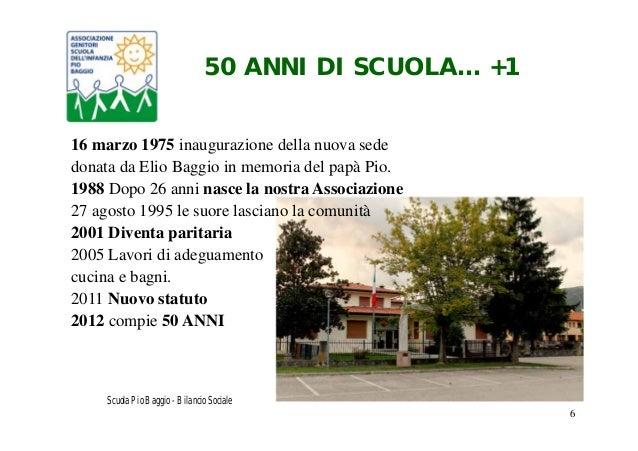 Scuola Infanzia Marchesane Bilancio Sociale 2012 2013