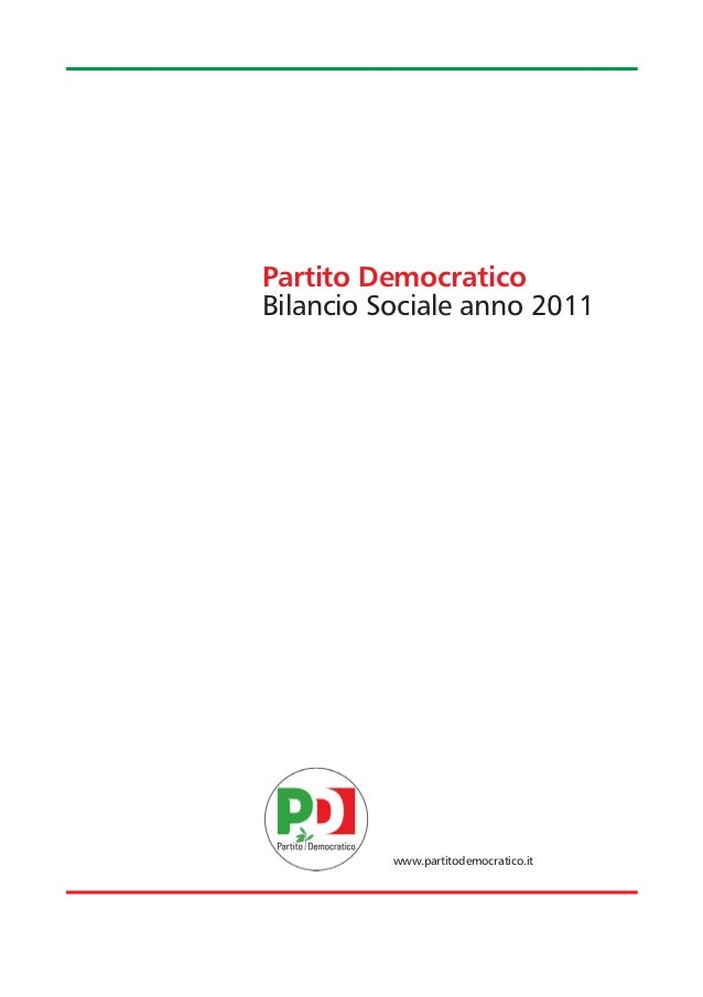 Partito DemocraticoBilancio Sociale anno 2011          www.partitodemocratico.it