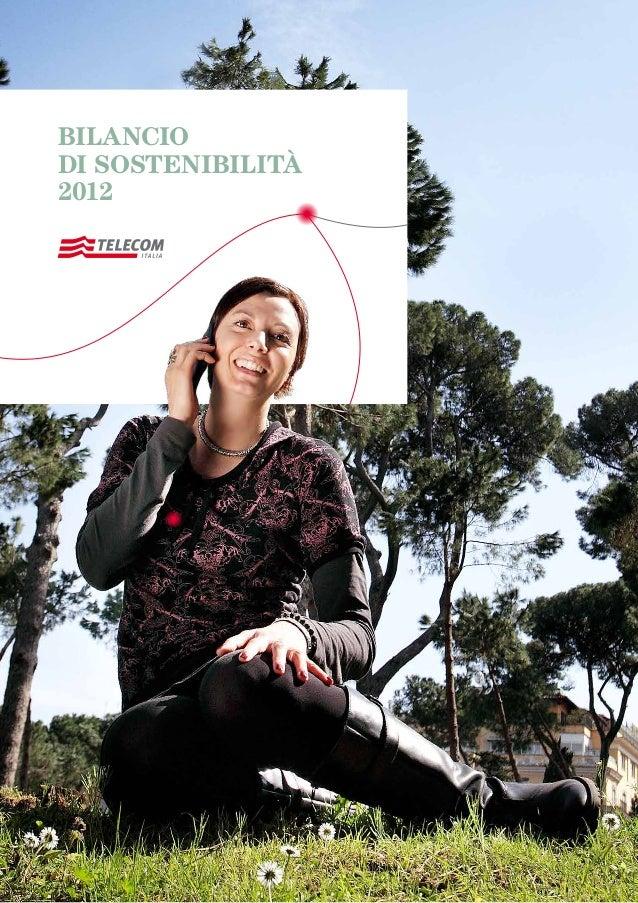 BILANCIODISOSTENIBILITÀ2012BILANCIODI SOSTENIBILITÀ2012