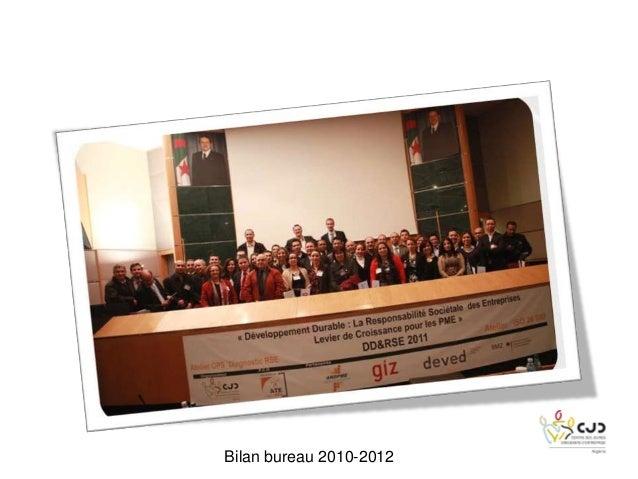 Bilan bureau 2010-2012