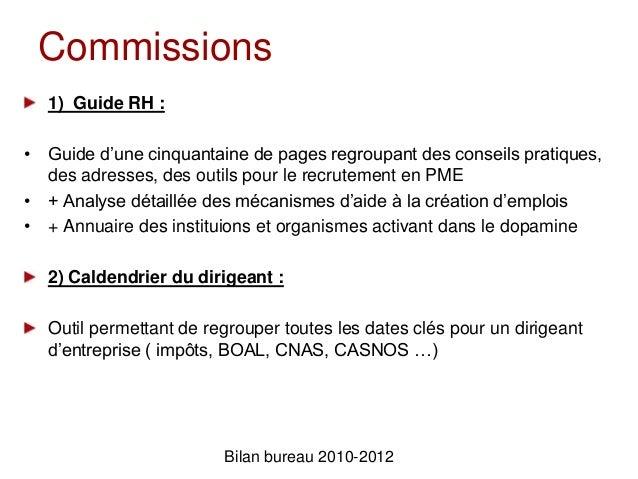 Bilan FinancierBilan bureau 2010-2012