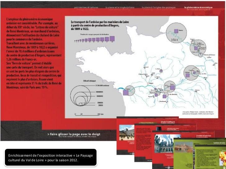 Enrichissement de l'exposition interactive « Le Paysageculturel du Val de Loire » pour la saison 2012.