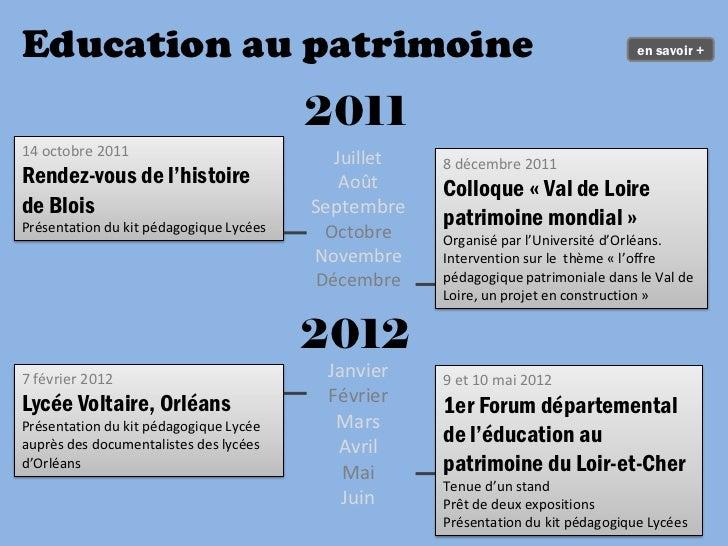 Education au patrimoine                                                             en savoir +                           ...