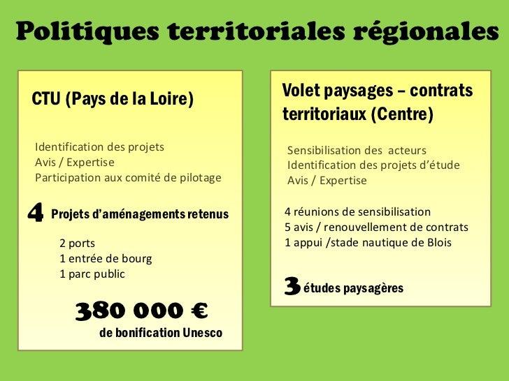 ExpérimentationsEtudes d'impact patrimonial UNESCO              29 et 30 mars 2012 à Tours                                ...