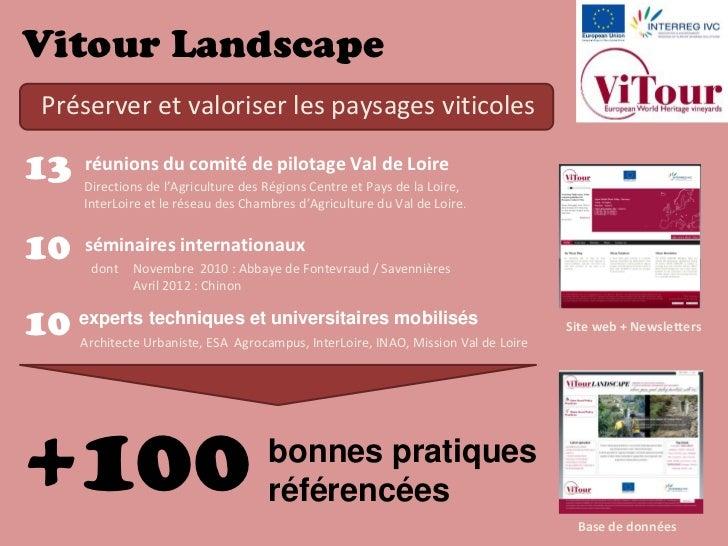 Vitour LandscapeSéminaire de restitutionTours, 27 mai 2011                                                         Euro gu...