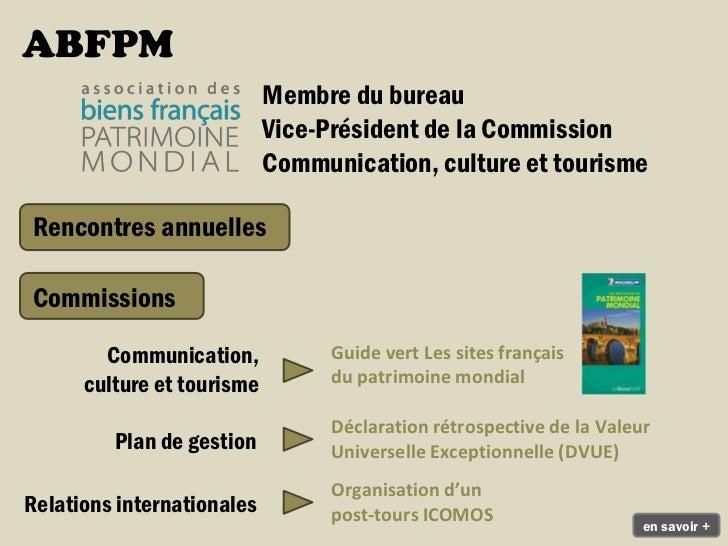 Visite du Festival international des jardins deChaumont-sur-Loire lors de l'accueil des membresdu Comité du patrimonial en...