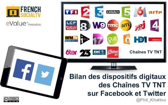 Bilan des dispositifs digitaux des Chaînes TV TNT sur Facebook et Twitter @Phil_Khattou Chaînes TV TNT