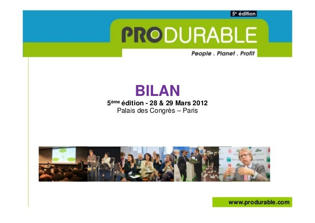 Bilan general produrable 2012