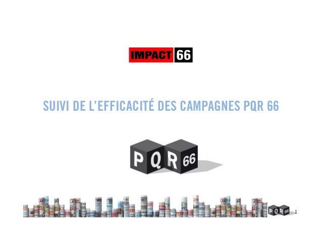 1 SUIVI DE L'EFFICACITÉ DES CAMPAGNES PQR 66