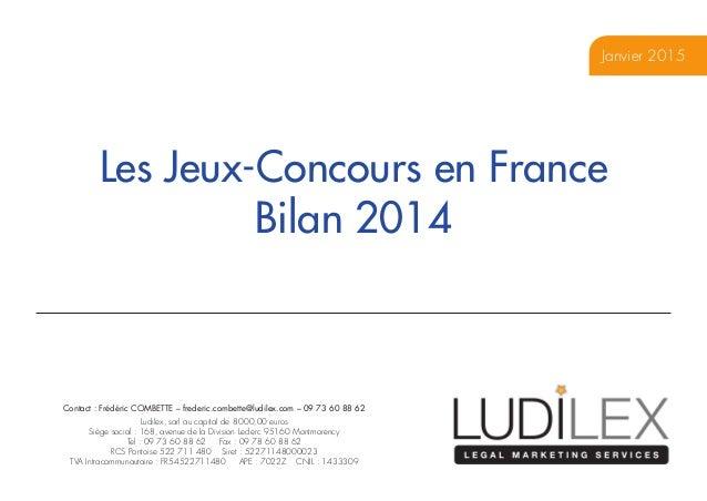 Contact : Frédéric COMBETTE – frederic.combette@ludilex.com – 09 73 60 88 62 Ludilex, sarl au capital de 8000,00 euros Si...