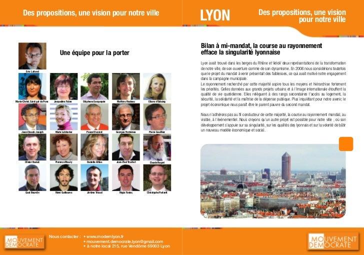 Des propositions, une vision      Des propositions, une vision pour notre ville                                           ...