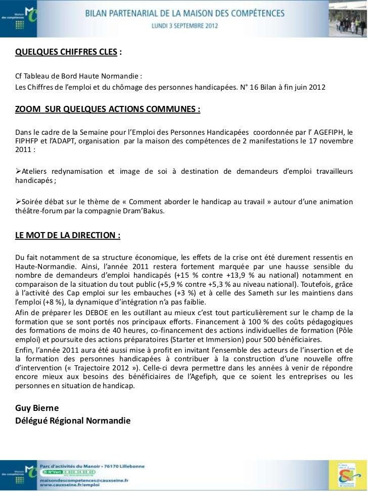 … Au titre de l'emploi des travailleurs handicapés                                         CAP EMPLOILES MISSIONS DE LA ST...