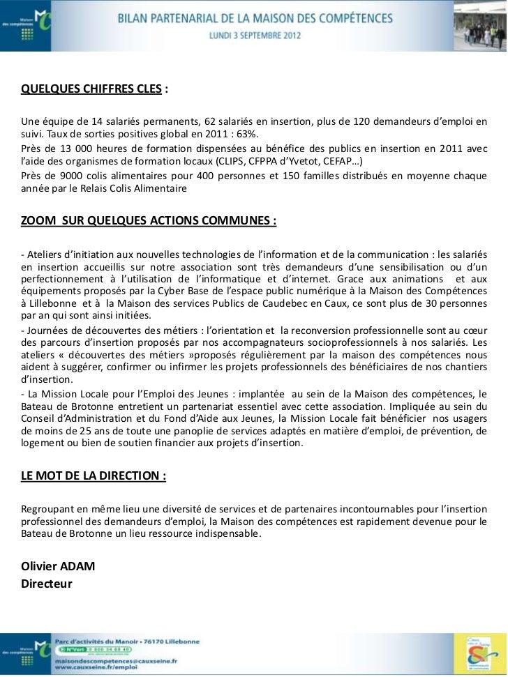 … Au titre de la formation                                               CEFAPLES MISSIONS DE LA STRUCTURE :Le CEFAP propo...