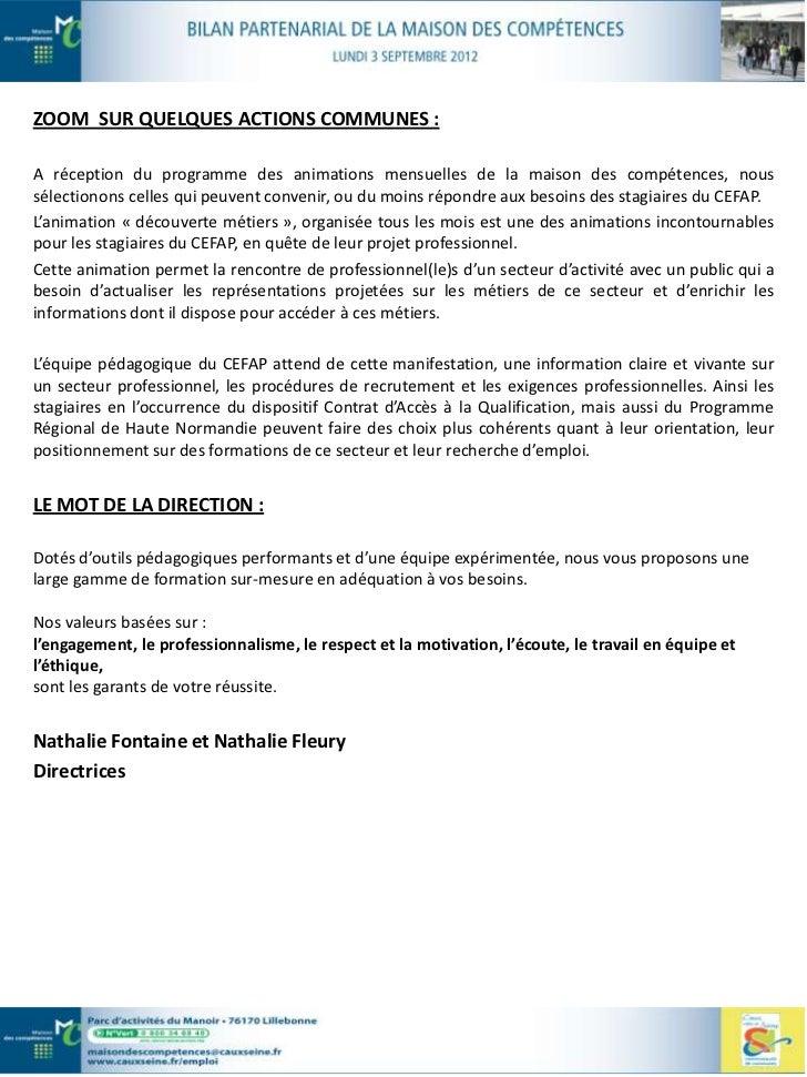 … Au titre de la Formation                                  CLIPS         Comité Local pour l'Insertion Professionnelle et...