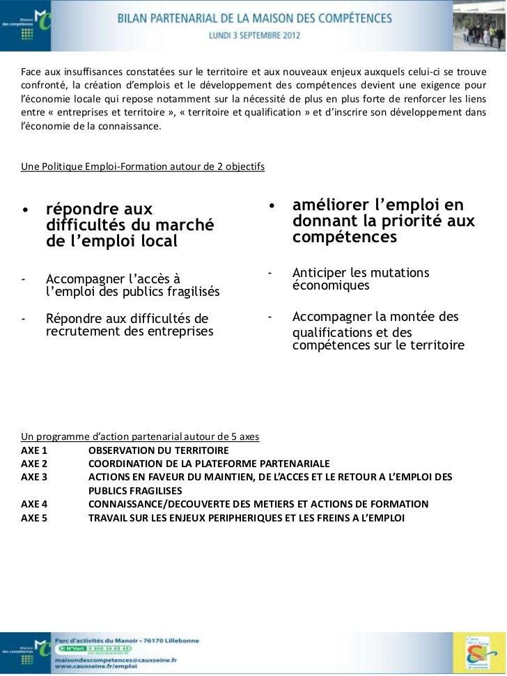 RAPPEL DU CONTEXTE EMPLOI-FORMATION EN CAUX VALLEE DE SEINEL'emploi en Caux vallée de SeineLe territoire Caux vallée de Se...