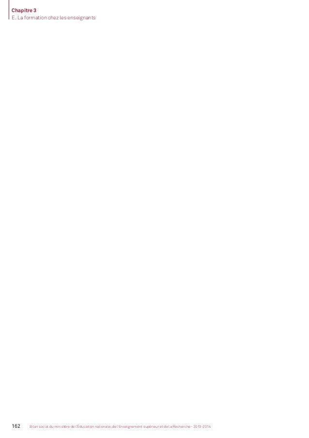 Bilan social de l'Enseignement Supérieur et de la Recherche, édition 2013-2014