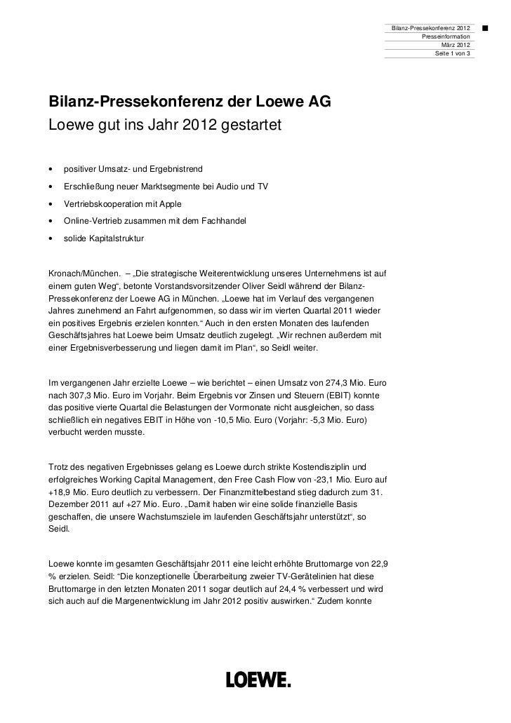 Bilanz-Pressekonferenz 2012                                                                                               ...