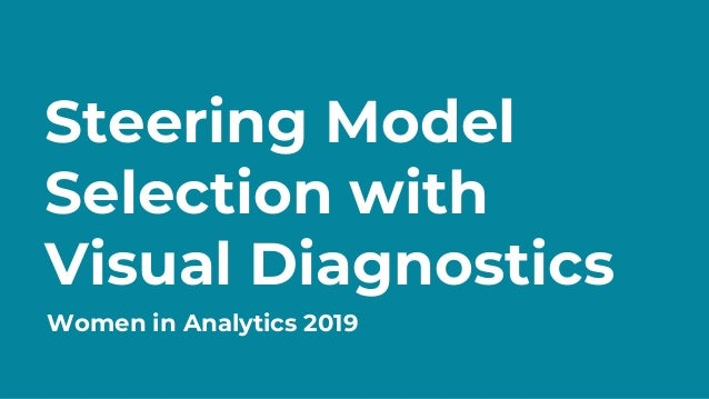 WIA 2019 - Steering Model Selection with Visual Diagnostics