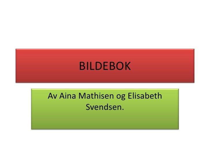 BILDEBOK<br />Av Aina Mathisen og Elisabeth Svendsen.<br />