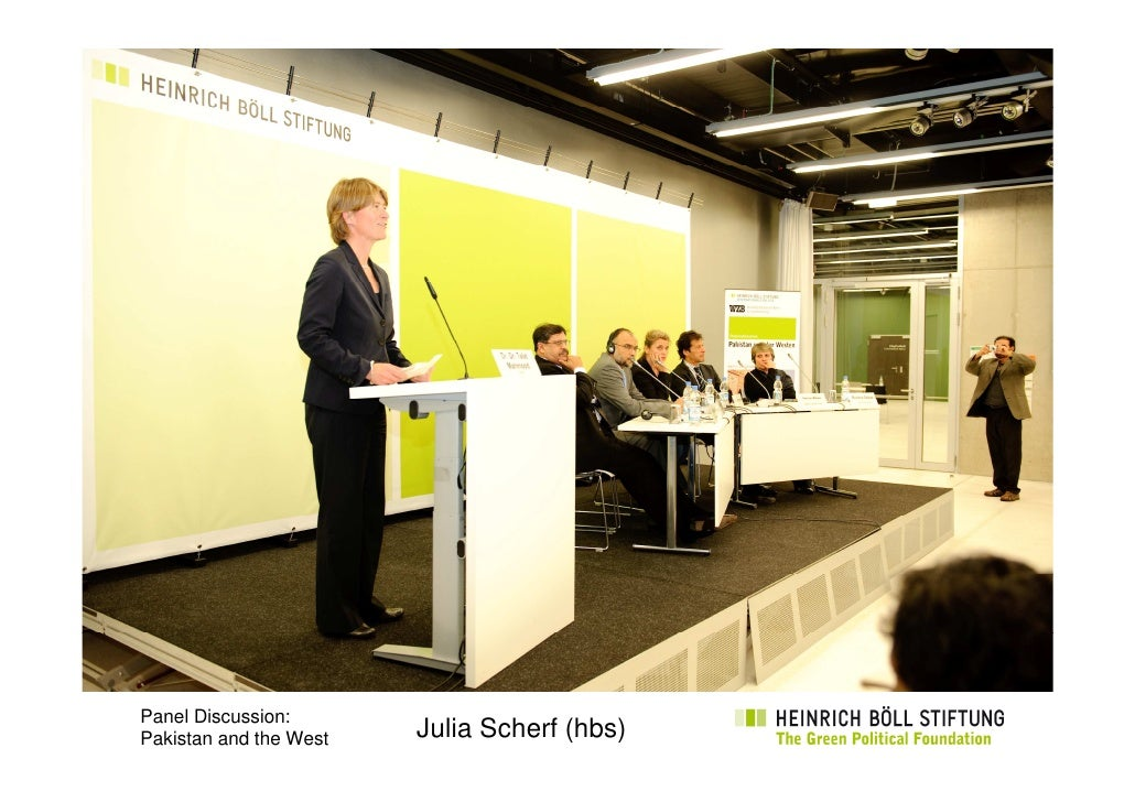 Panel Discussion: Pakistan and the West   Julia Scherf (hbs)