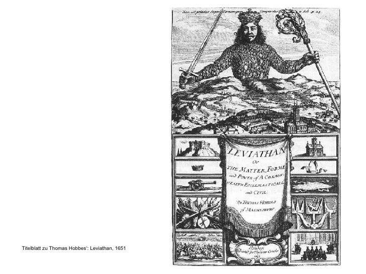 <ul><li>Titelblatt zu Thomas Hobbes': Leviathan, 1651 </li></ul>