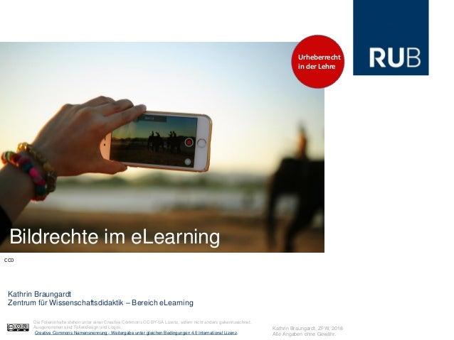 Bildrechte im eLearning Kathrin Braungardt Zentrum für Wissenschaftsdidaktik – Bereich eLearning CC0 Kathrin Braungardt, Z...