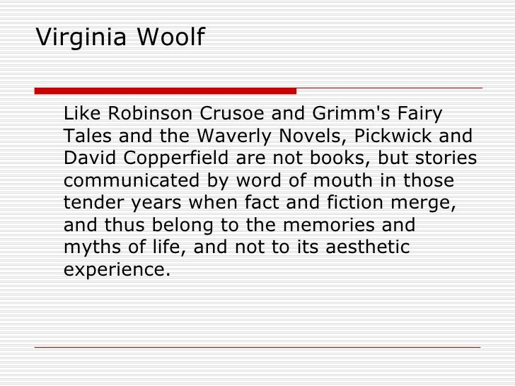 Virginia woolf essay on robinson crusoe