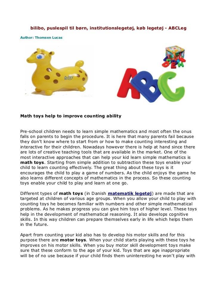 bilibo, puslespil til børn, institutionslegetøj, køb legetøj - ABCLegAuthor: Thomsen LucasMath toys help to improve counti...