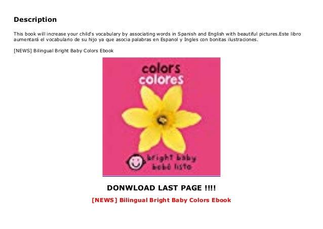 NEWS] Bilingual Bright Baby Colors Ebook