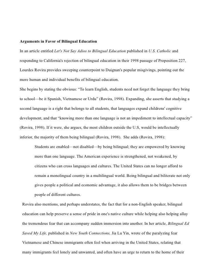 Bilingualism essay bilingual education in this essay i examine the bilingual education jeff hastings 4 toneelgroepblik Image collections