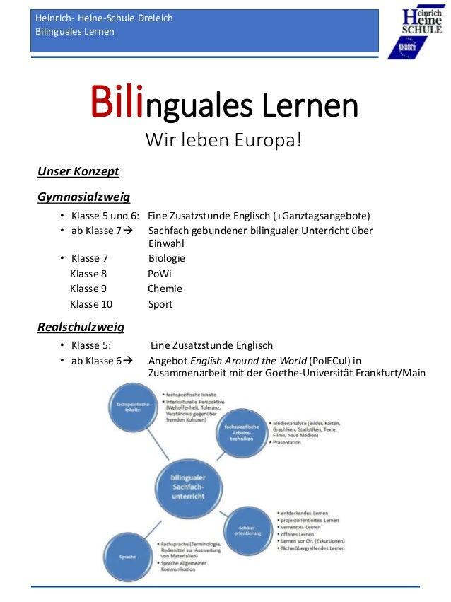 Heinrich-Heine-Schule Dreieich Unser neues Medienbildungskonzept Bilinguales Lernen Wir leben Europa! Unser Konzept Gymnas...