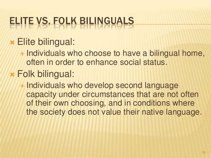 subordinate bilingualism