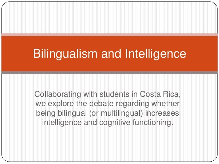 Collaborating with students in Costa Rica, we explore the debate regarding whether being bilingual (or multilingual) incre...