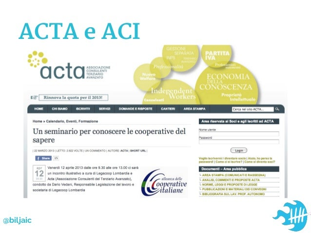 ACTA e ACI@biljaic