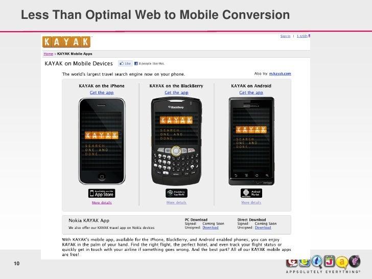 Less Than Optimal Web to Mobile Conversion     10