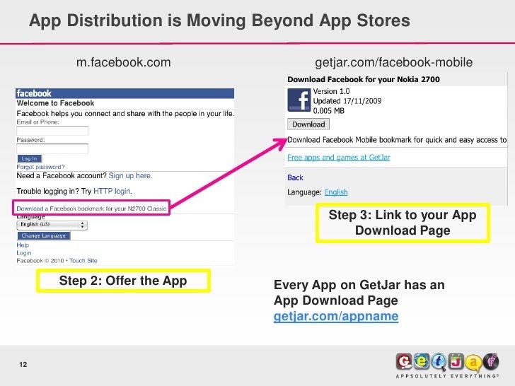App Distribution is Moving Beyond App Stores            m.facebook.com               getjar.com/facebook-mobile           ...
